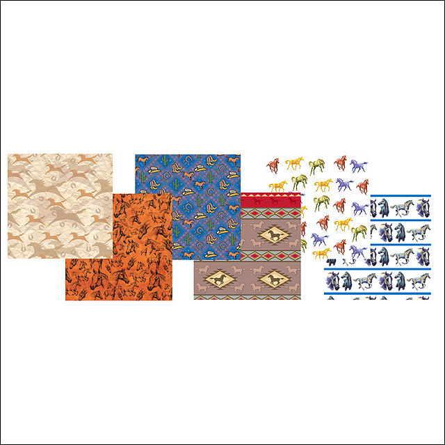 9x9x32 rivers edge home decor horse wrapping paper